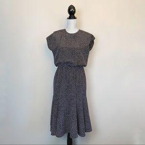 90s polka dot print midi dress